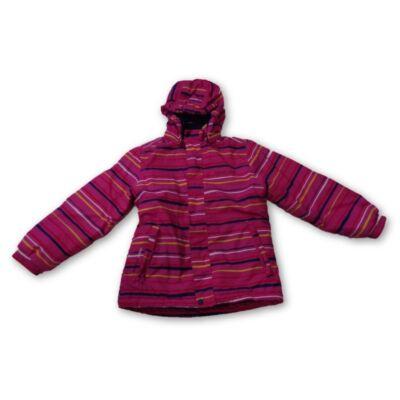128-as pink csíkos téli dzseki - Color Kids