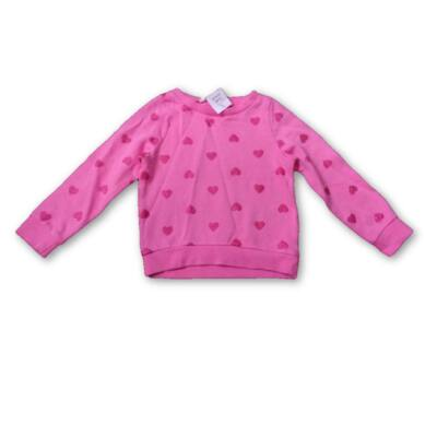 92-es rózsaszín szivecskés pulóver - H&M
