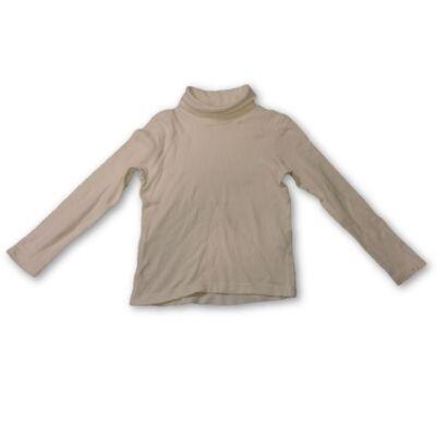 110-116-os fehér unisex garbónyakú pamutfelső - Decathlon