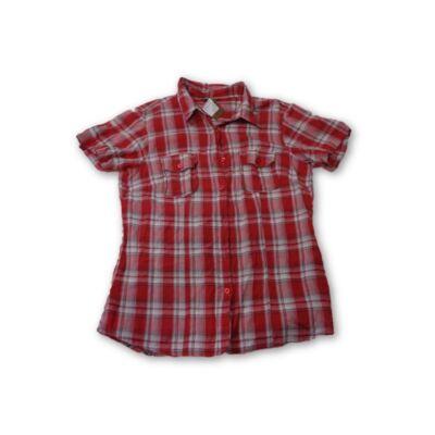Női XL-es piros kockás rövid ujjú blúz - Philip Russel - felicity.hu ... 49435b4f32