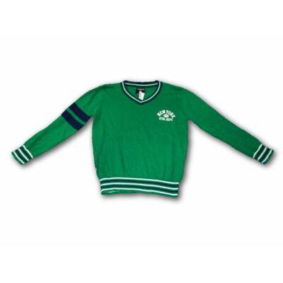 116-122-es zöld vékonyabb kötött pulcsi -Terranova