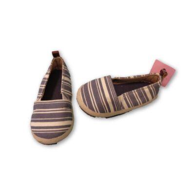 20-21-es kék csíkos vászoncipő - H&M