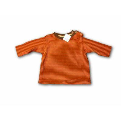 62-68-as narancs-barna csíkos pamutfelső - Lupilu