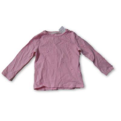 92-es rózsaszín virágos pamutfelső - F&F