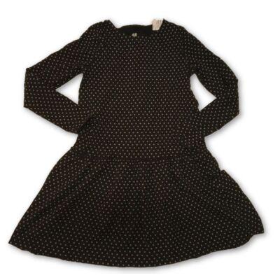 134-140-es fekete alapon fehér mintás ruha - H&M