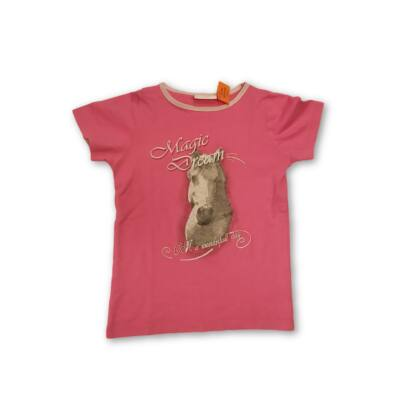 122-128-as pink lovas póló