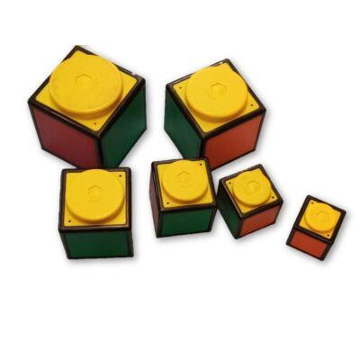 Rubik kocka hatású műanyag építőjáték - Rubik's