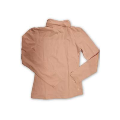 134-140-es rózsaszín garbónyakú pamutfelső - Decathlon