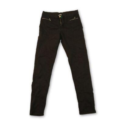 164-es dísz-cipzáros fekete lány sztreccs farmernadrág - H&M