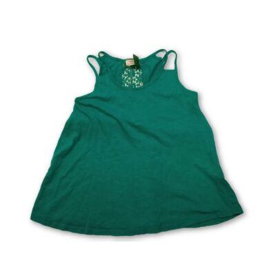 128-as zöld, hátul csipkés,áttört mintájú póló - Zara
