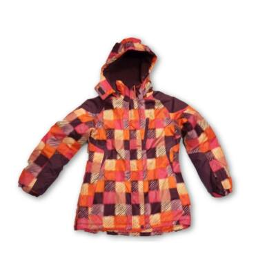 152-158-as narancs-lila kockás téli dzseki lánynak - X-Mail