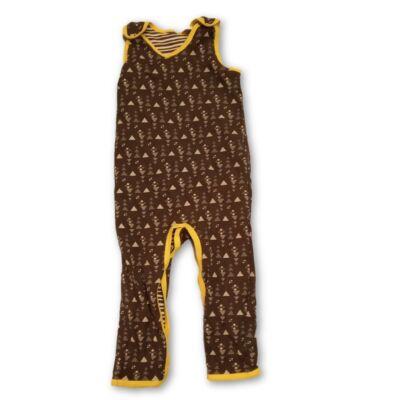 92-es szürke-sárga pamut lábfej nélküli rugi