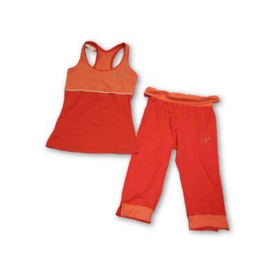 158-164-es korallszínű fitness ruha