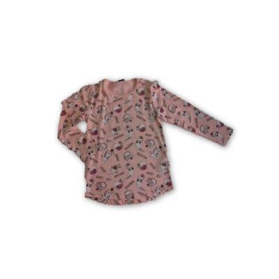 110-es rózsaszín cicás pamutfelső - Kiki & Koko - ÚJ