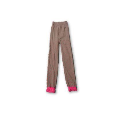 128-as szürke csipkés aljú leggings