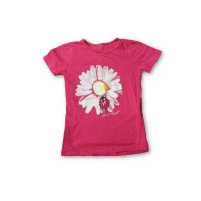 98-as pink virágos póló
