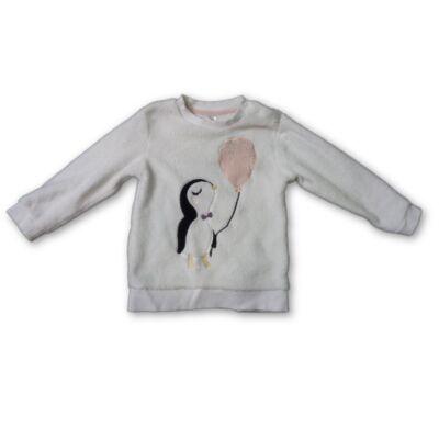92-es szőrmés pingvines pulóver - H&M
