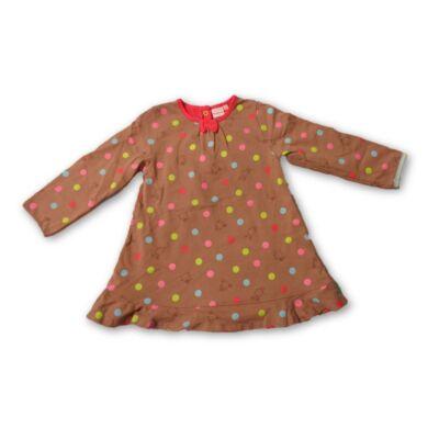92-es barna pöttyös ruha - Bluezoo