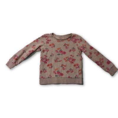 116-os szürke rózsás pulóver - Dopodopo