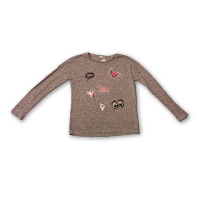 146-152-es vékony szürke lány pulóver - Pepco