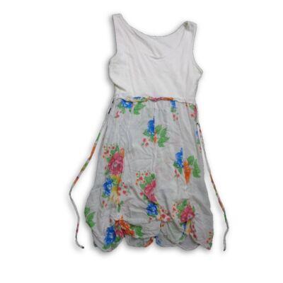 Női S-es fehér virágos ruha - felicity.hu használt ruha webáruház ... f80a7bc746