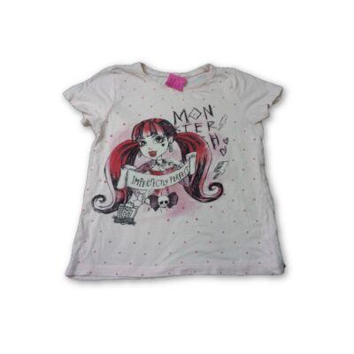 110-es halványrózsaszín kislányos póló - Monster High