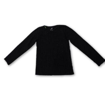 134-140-es fekete lány pamutfelső - H&M