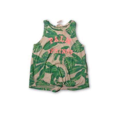 158-as zöld leveles alul kötős póló - H&M