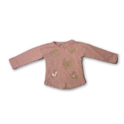 110-es rózsaszín flitteres pamut pulóver - Next