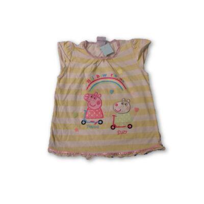 92-es sárga csíkos póló - Peppa Pig, Peppa Malac