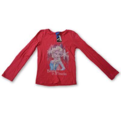 122-es pirosas pamutfelső - Frozen, Jégvarázs