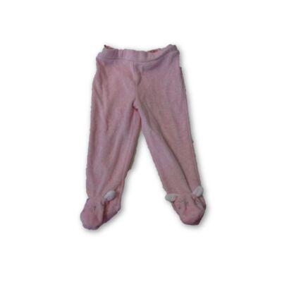 62-es rózsaszín plüss talpas nadrág - F&F