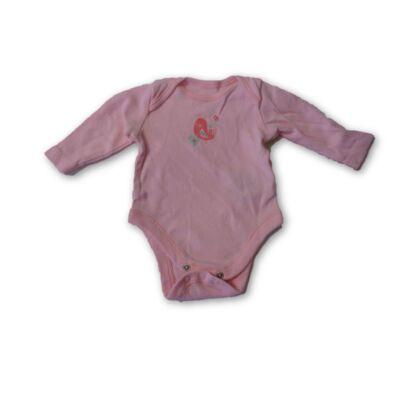 56-os rózsaszín madárkás body - F&F