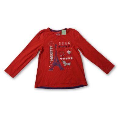 110-es piros strasszos csillogó pamutfelső - C&A