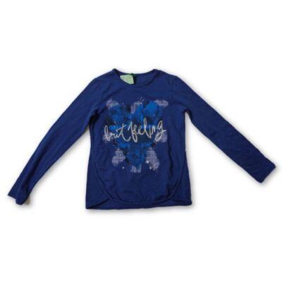 116-122-es kék lány pamutfelső - Benetton