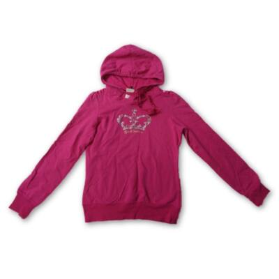 158-as pink strasszos koronás pamut pulóver - Fishbone