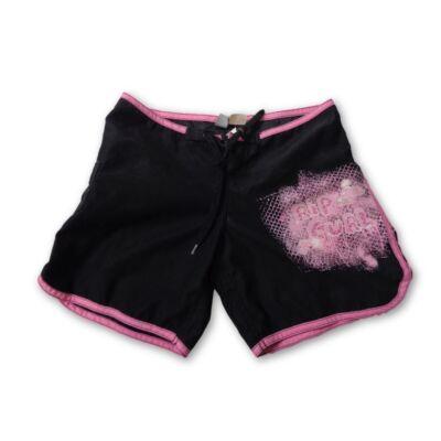 146-es fekete-rózsaszín lány short