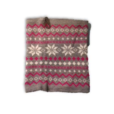 Szürke-pink norvég mintás körsál - X-Mail - ÚJ