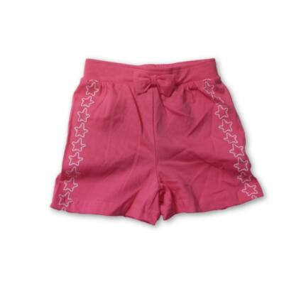 74-es pink, oldalt csillagos pamutshort - Ergee - ÚJ