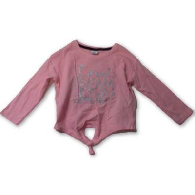 92-es rózsaszín csillagos top jellegű pamutfelső - Kiki & Koko - ÚJ