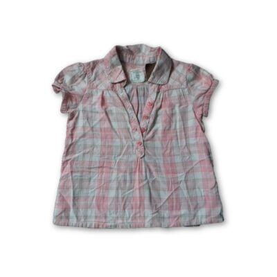 104-es rózsaszín kockás rövidujjú blúz - H&M