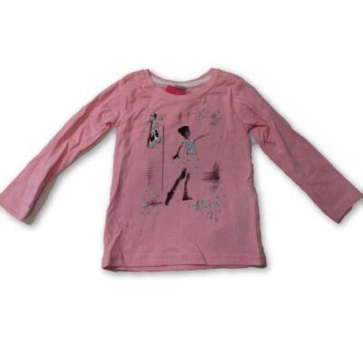 92-es rózsaszín balerinás pamutfelső - Kiki & Koko - ÚJ