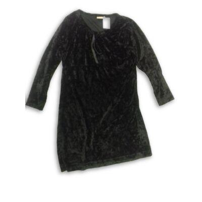 134-140-es fekete bársony alkalmi ruha