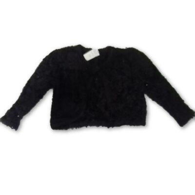 146-152-es fekete csillogó boleró - George