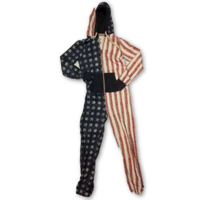 Női S-M-es pamut amerikai zászlós háziruha