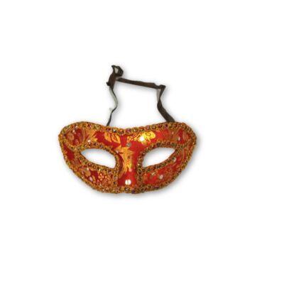 Piros aranymintás karneváli szemmaszk