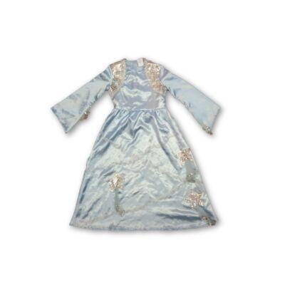 128-as kék csillogó hercegnő ruha, jelmez