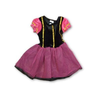 98-104-es rózsaszín-fekete jelmezruha