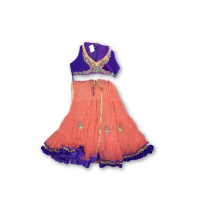 128-as lila indiai jelmez ruha