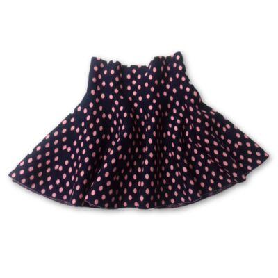110-es fekete-rózsaszín sztreccs kötött szoknya